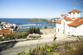 Marina of Andros, Greek  island — Stock Photo