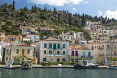 Marina of Poros, Greek island — Stock Photo