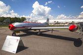 Jet aircraft Messerschmitt Stiftung Hispanic Aviacion HA-200 — Stockfoto