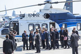 Helicopter of German Chancellor Angela Merkel — Stockfoto