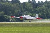 Two-seat jet aircraft — Stock Photo