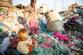 People on dump in Nepal — Stock Photo