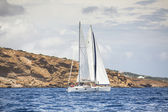 Sailboats  in sailing regatta — Stock Photo