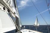 Sailboats  in sailing regatta — Stock Photo