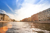 St. Petersburg channel — Stockfoto