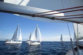 "Sailboats in sailing regatta ""11th Ellada 2014 — Stock Photo"