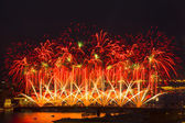 Light show and firework — Foto Stock