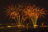 Light show and firework — Stockfoto