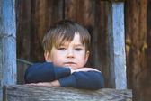 Boy in the village. — Stock Photo