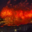 Firework at festival Scarlet Sails in Russia — Stock Photo #48615263