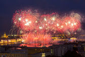Firework at festival Scarlet Sails in Russia — Photo