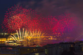 Firework at festival Scarlet Sails in Russia — Stock Photo