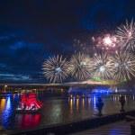 Festival Scarlet Sails  on the Neva River — Stock Photo #48629713