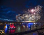 Festival Scarlet Sails  on the Neva River — Photo