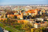 Aerial view of Royal Wawel castle — Stock Photo