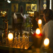 Procession and divine Liturgy — Stock Photo