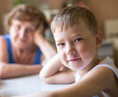 Little boy looking at the camera — Stock Photo
