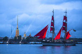 Rigate participated in Scarlet Sails festival — Stock Photo