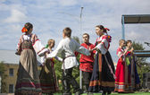 Unidentified participants on celebration day of the city — Стоковое фото