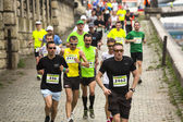 Participants during Krakow international Marathon — Stock Photo