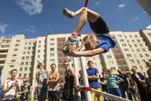 Participants on Street workout competitions — ストック写真