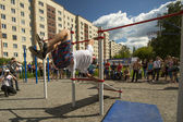 Participants on Street workout competitions — Stok fotoğraf