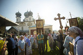 Procession and divine Liturgy in Uspensky monastery. — Stock Photo