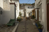 Old traditional street of Hydra island — Stock Photo