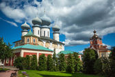 Cathedral of Tikhvin Assumption Monastery — Stock Photo