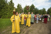 Participants Orthodox divine Liturgy — Photo