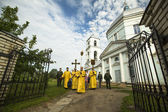 Participants Orthodox divine Liturgy — Stock Photo