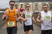 Participants during the  Krakow international Marathon — Stock Photo