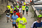 Participants pendant le marathon international de cracovie — Photo