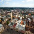 Top view from Lviv City Hall — Stock Photo #51247069