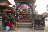 Kaal Bhairav statue in Kathmandu — Stock Photo
