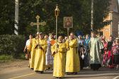 Participants Orthodox Religious Procession — Stok fotoğraf