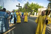 Участники православный Крестный ход — Стоковое фото