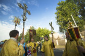 Participants Orthodox Religious Procession — Stockfoto