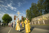 Participants Orthodox Religious Procession — Stock Photo