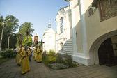 Procession religieuse orthodoxe de participants — Photo