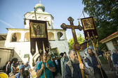 Participants Orthodox Religious Procession — Foto Stock