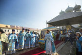 Participants Orthodox divine Liturgy — Stock fotografie