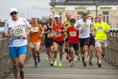 Participants during the annual Krakow Marathon. — Stock Photo