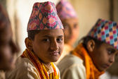 Children  in Sanskrit at Jagadguru School — Stock Photo
