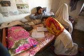 Children doing homework at Jagadguru School. — Stock Photo