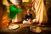 Children during dinner at Jagadguru School. — Stock Photo