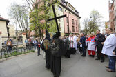 Way of the Cross on Good Friday in Krakow. — Stock Photo