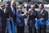 Angela Merkel, Lutfi Elvan and Mr Christian — Stock Photo