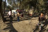 Poor children in Tripureshwor district. — Stock Photo