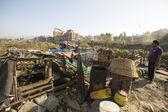 Poor people in Tripureshwor district — Stock Photo